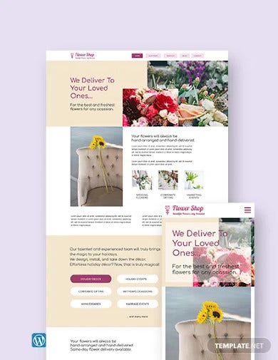 flower shop wordpress theme template