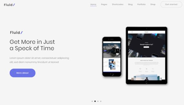 fluid – wordpress theme for startup business