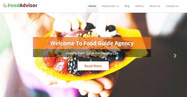 Food Advisor – Custom WordPress Theme