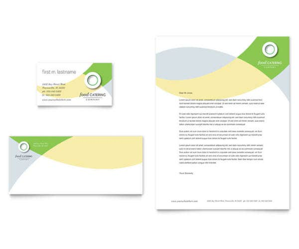 Food Catering Letterhead Template
