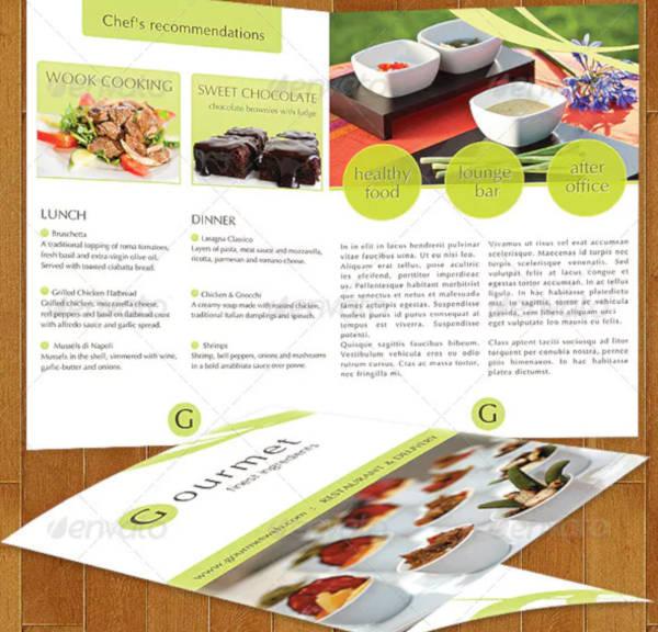 food catering menu example