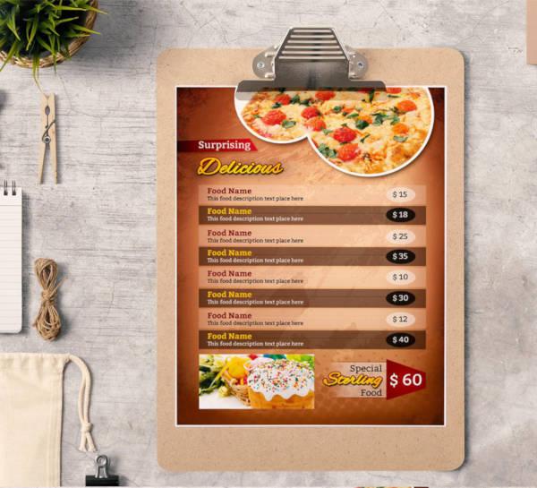 food menu corporate identity template