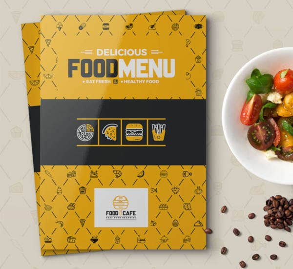 food menu for restaurant identity