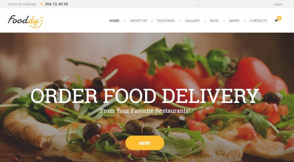 fooddy 24x7 food ordering and delivery wordpress theme