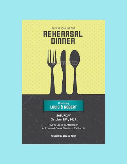 formal rehearsal dinner template 1