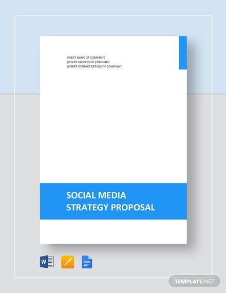 formal social media strategy proposal template