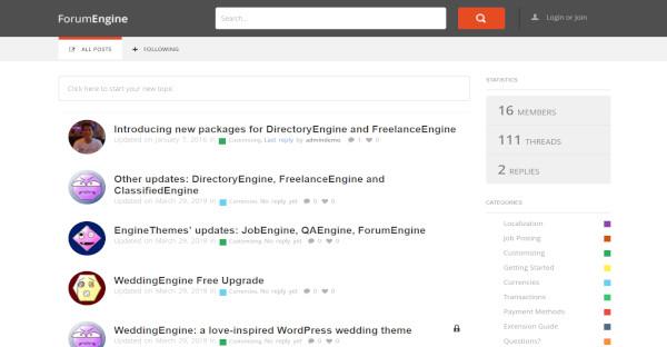 ForumEngine – Responsive WordPress Theme