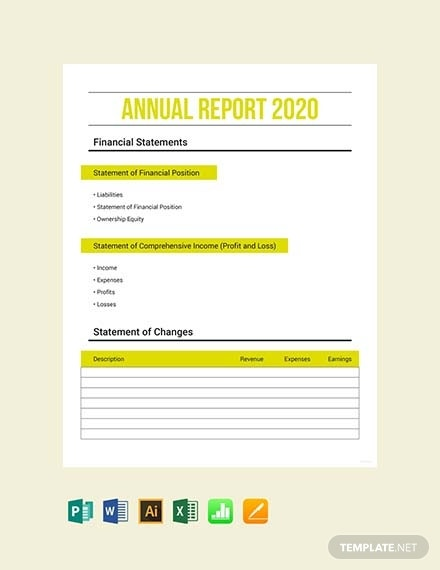 free annual expense report template 4400