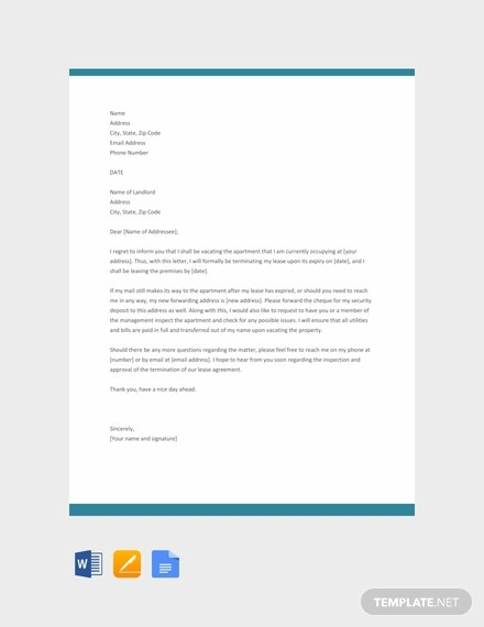 free apartment lease termination letter template 440x570 1