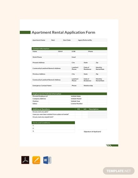 free apartment rental application form template 440x570 1
