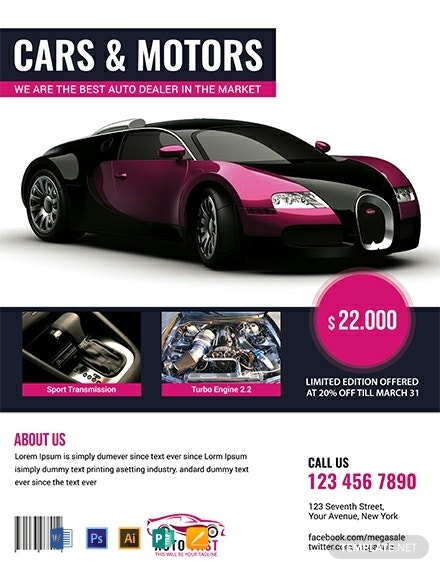 free auto sales flyer template 440x570 1