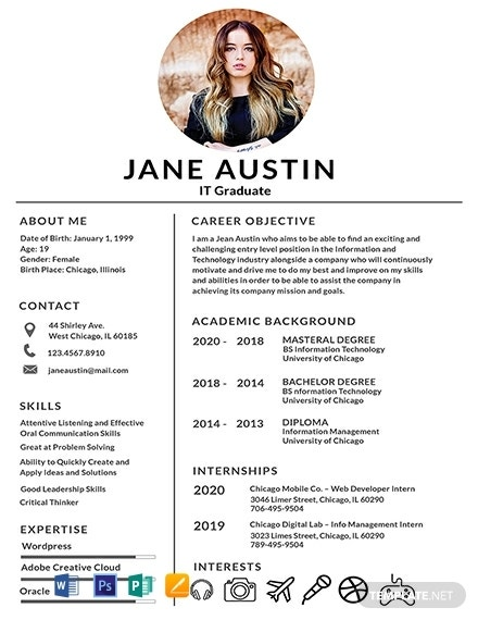 free basic fresher resume template 440x570 1