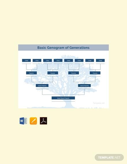 free basic genogram template 440x570 1