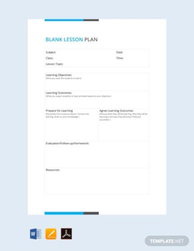 free blank lesson plan template1