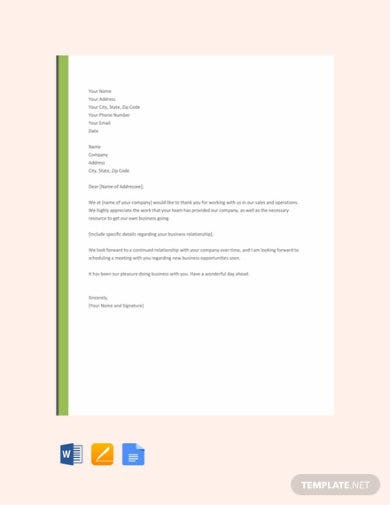 free business thank you letter template 440x570 1