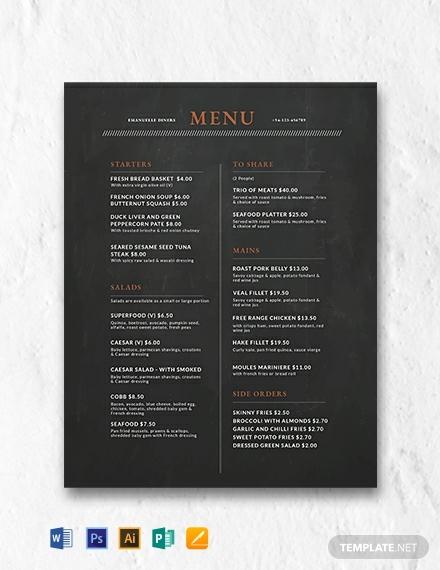 free-chalkboard-menu-design-template