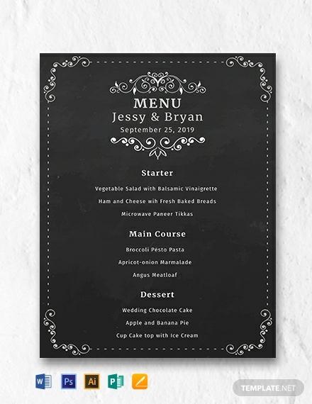 free-chalkboard-wedding-menu-template
