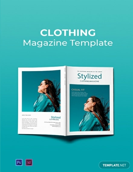 free clothing magazine template 440x570 1