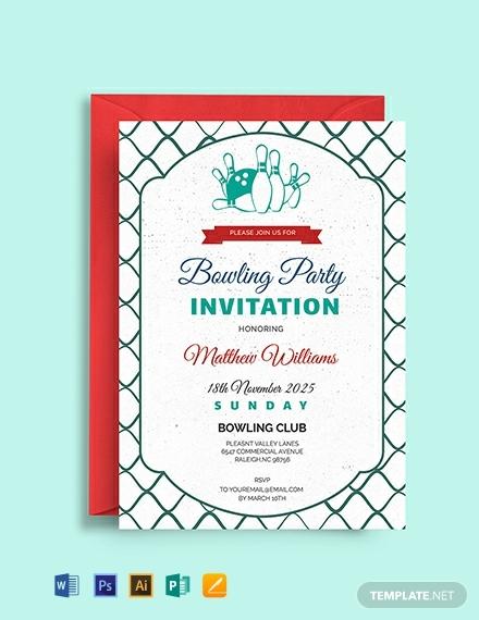 free corporate bowling invitation template 440x570 1