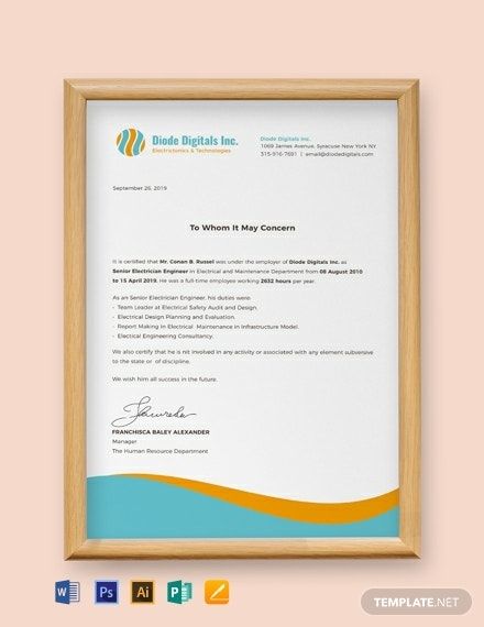 free electrician experience certificate template 440x570 1