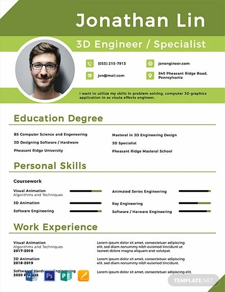 free engineering student fresher resume template 440x570 1