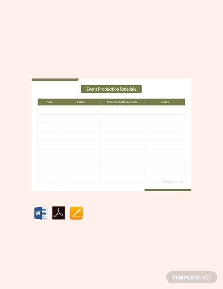 free event production schedule template 440x570 1