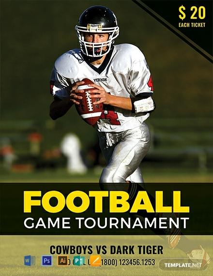free football tournament creative flyer template 440x570 1