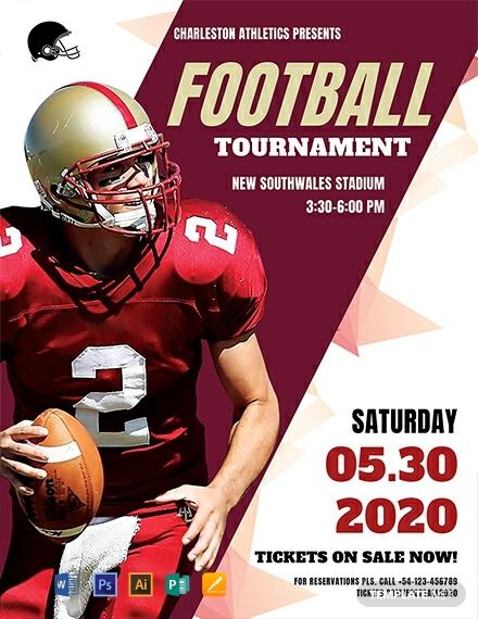 free football tournament flyer template 440x570 1