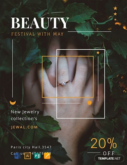 free jewelry shop flyer template 440x570 1