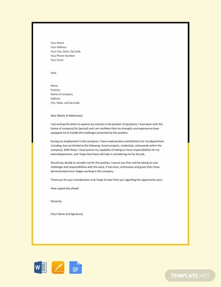 free letter of intent for job within same company 440x570 1