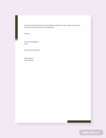 free letter of intent to purchase equipment template 440x570 31