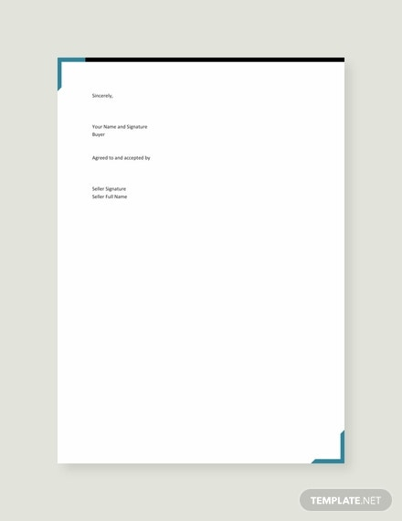 free letter of intent to purchase goods template 440x570 31