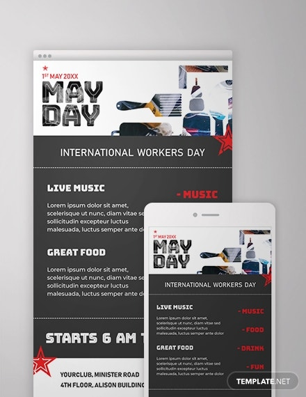 free may day email newsletter template 1x