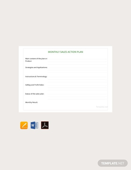 free monthly sales action plan template 440x570 1