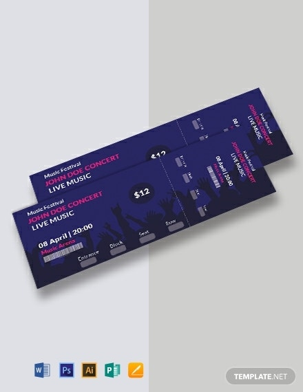 free music concert ticket template 440x570 1