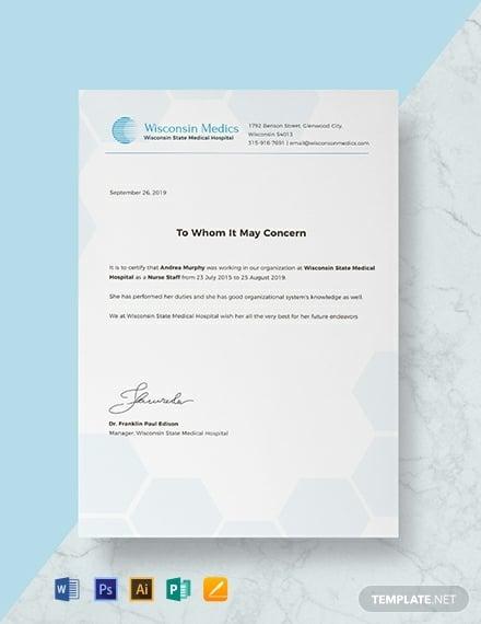 free nursing experience certificate template 440x570 1