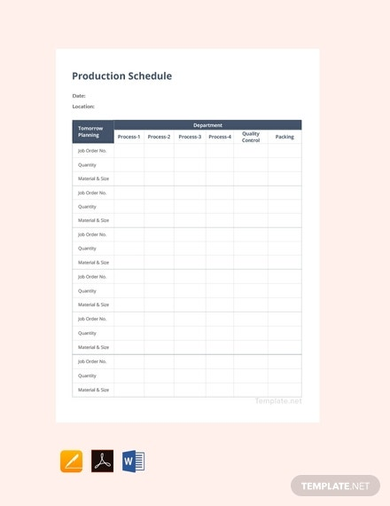free production schedule template 440x570 1