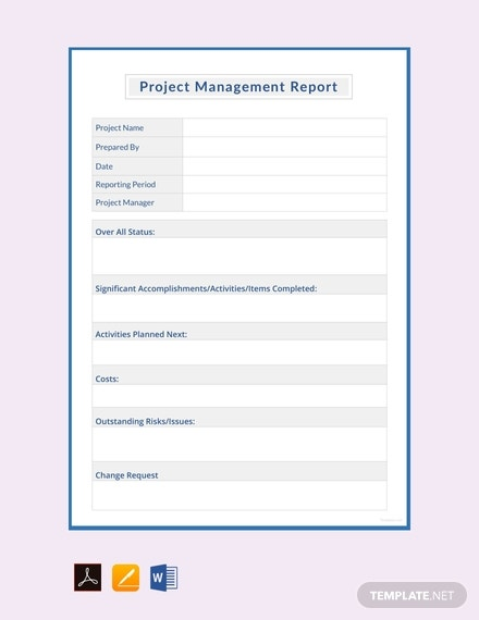 free project management report template 440x570 1