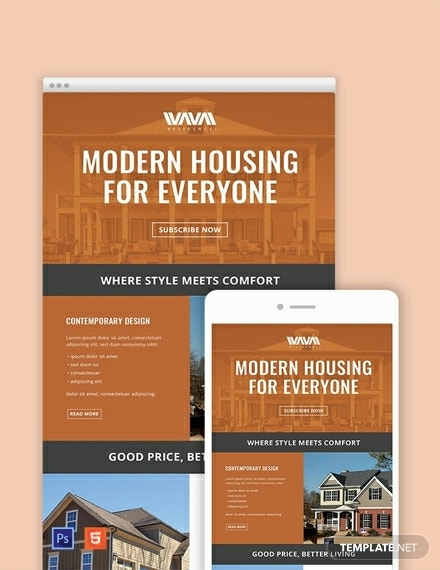 free real estate email newsletter template 440x570 1