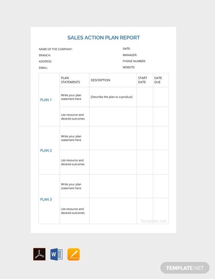 free sales action plan report template 440x570 1