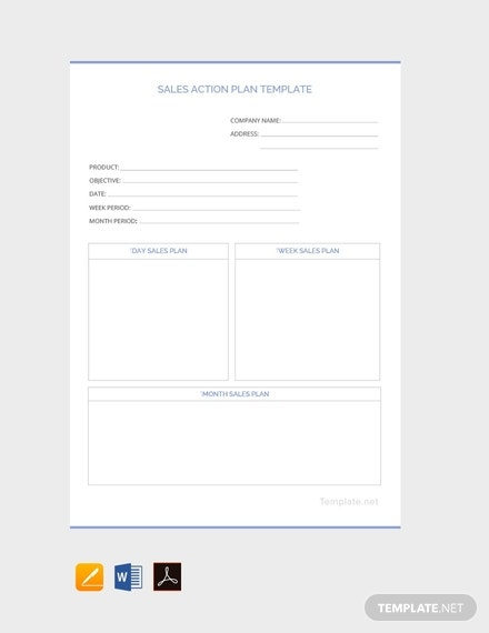 free sales action plan template 440x570 1