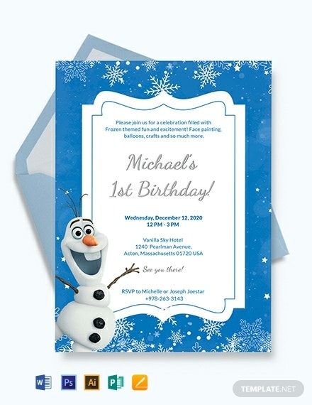 frozen birthday invitation template 440x570 1