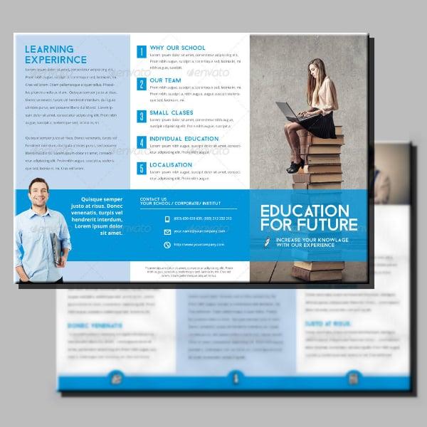 future school tri fold brochure example