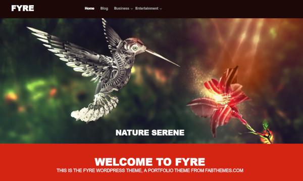 fyre highly responsive wordpress theme