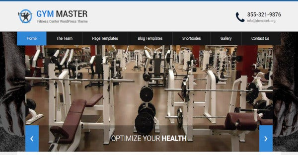 gym master multilingual wordpress theme