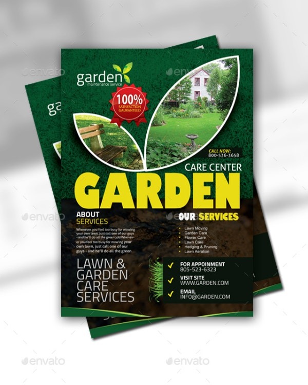garden care center flyer example