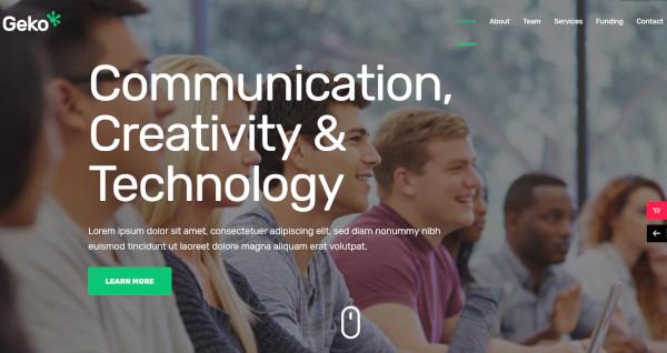 geko smart wordpress theme for startups