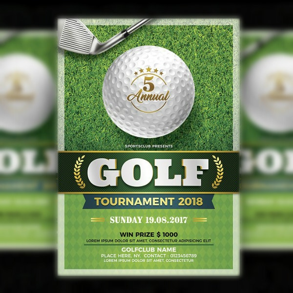 golf tournament sports flyer example