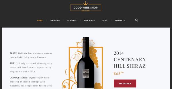 Good Wine Shop Flexible WordPress Theme