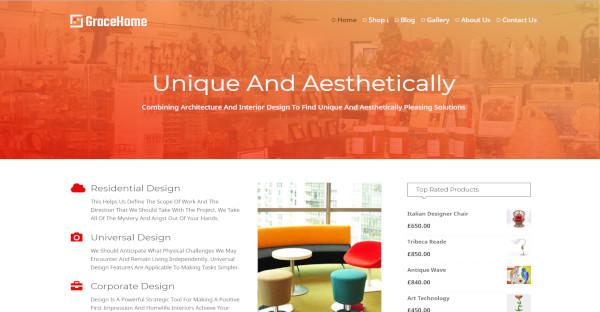 grace home custom wordpress theme